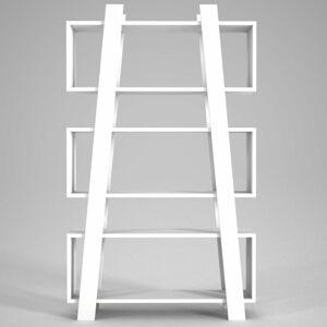 Bílá knihovna Almira, výška 150 cm