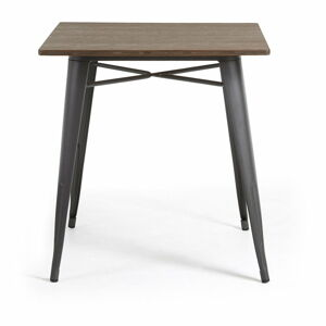 Zahradní jídelní stůl s bambusovou deskou La Forma Malibu, 80 x 80 cm