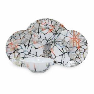 24dílná sada porcelánového nádobí Kütahya Porselen Abstract