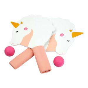 Set 2 pálek a míčků na stolní tenis Sunnylife Seahorse Unicorn