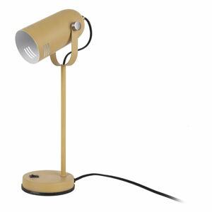 Hořčicově žlutá stolní lampa Leitmotiv Husk