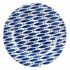 Kameninový talíř Churchill China Couture Fishie Blue, ⌀ 30 cm