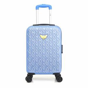 Modré skořepinové zavazadlo na 4 kolečkách LPB Alicia, 31l